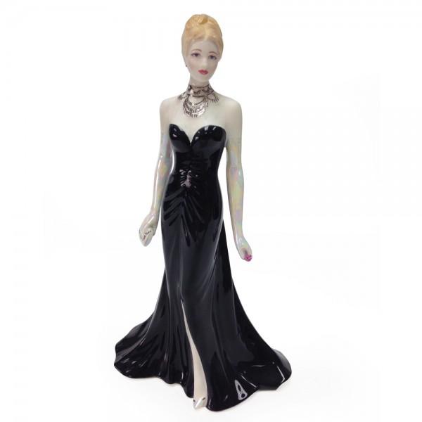 Elizabeth Emanuel Black Gown CW568 - Royal Worcester Figure
