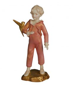 Boy with Parakeet - Royal Worcester Figurine
