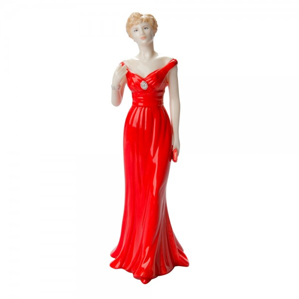 Diana, Princess of Wale (Red evening gown) - Royal Worcester Figurine