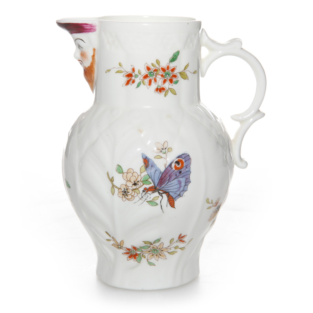 Floral Pitcher with Butterfly Medium - Royal Worcester Decor