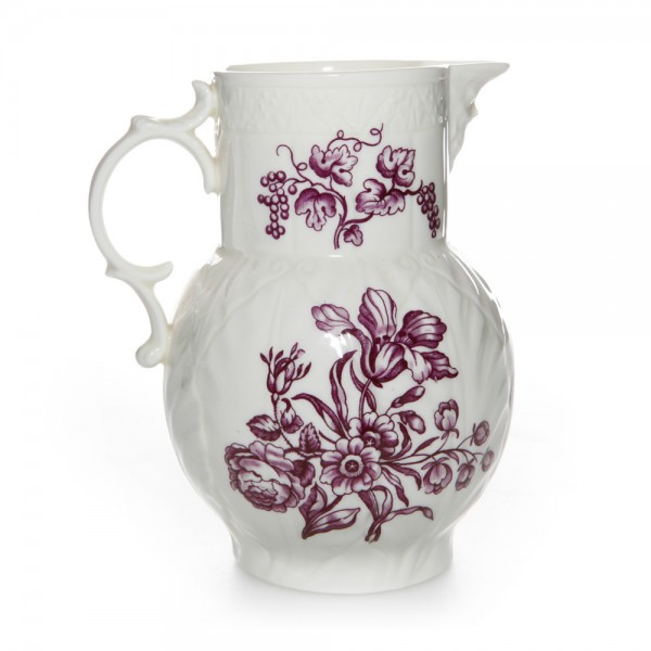 Pitcher with Purple Flowers Large - Royal Worcester Decor