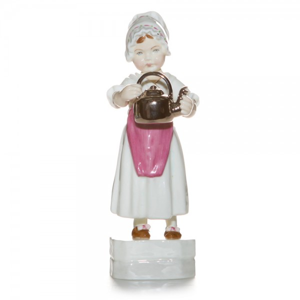 Polly Put the Kettle On RW3303 - Royal Worcester Figure
