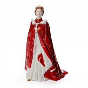 Queen Elizabeth II (80th Birthday Celebration) - Royal Worcester Figurine
