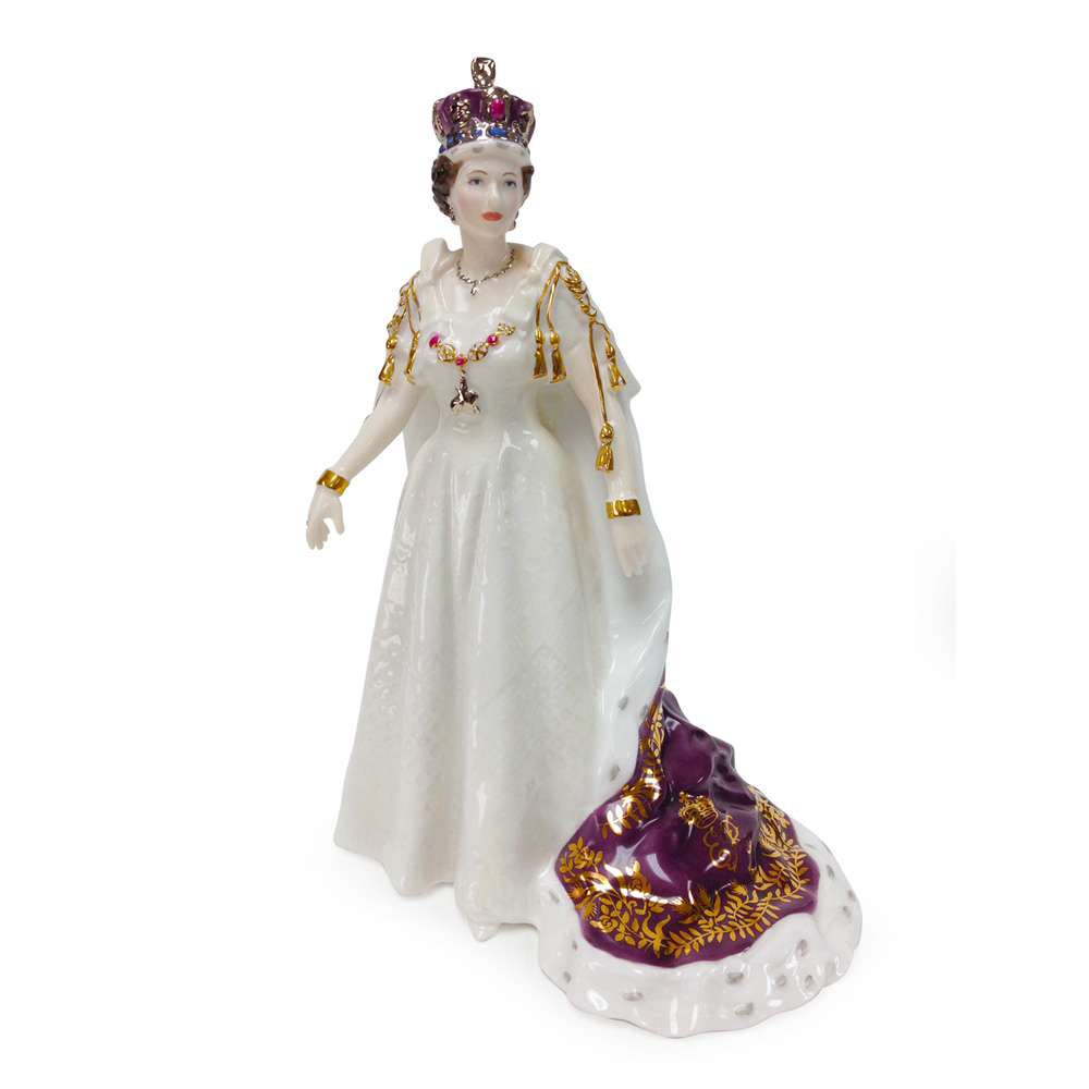 Queen Elizabeth II CW458 - Royal Worcester Figure