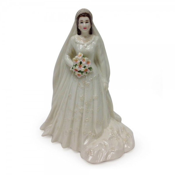 Queen Elizabeth II - In Celebration of the Queen's Diamond Wedding Anniversary 1947-2007 - Royal Worcester Figure
