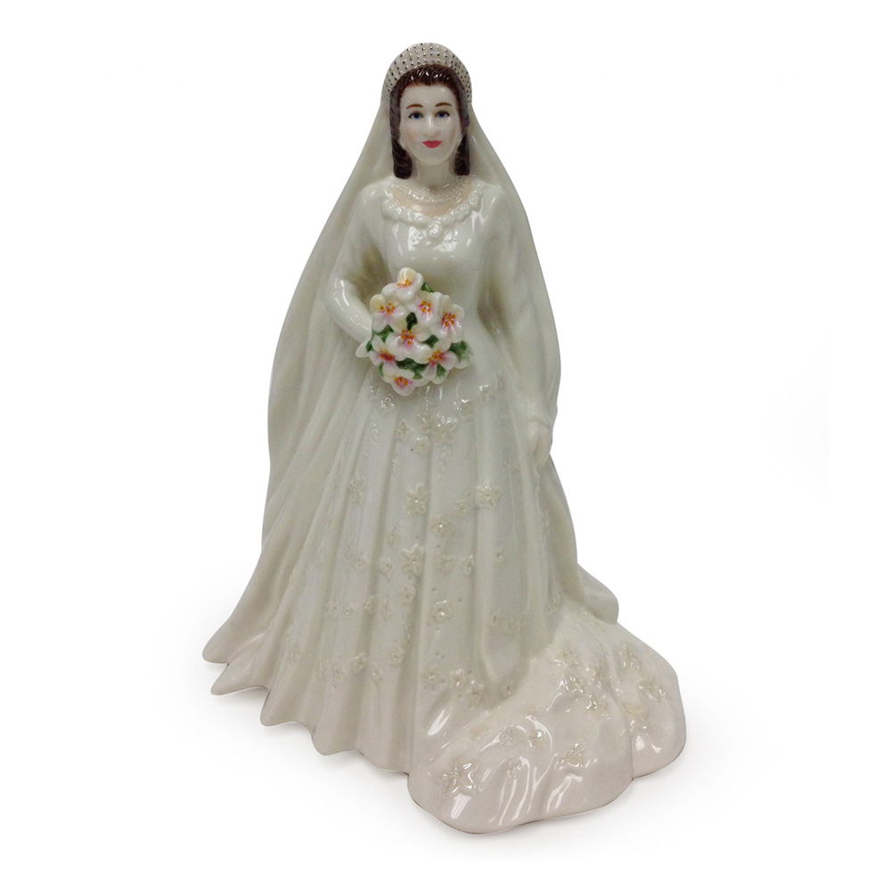 Queen Elizabeth II - In Celebration of the Queen's Diamond Wedding Anniversary 1947-2007 - Royal Worcester Figure