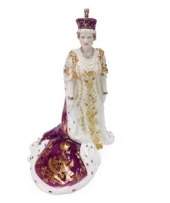 Queen Elizabeth, The Queen Mother in her Coronation Robes - Royal Worcester Figure