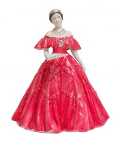 Queen Elizabeth, The Queen Mother (Red Gown)  - Royal Worcester Figurine