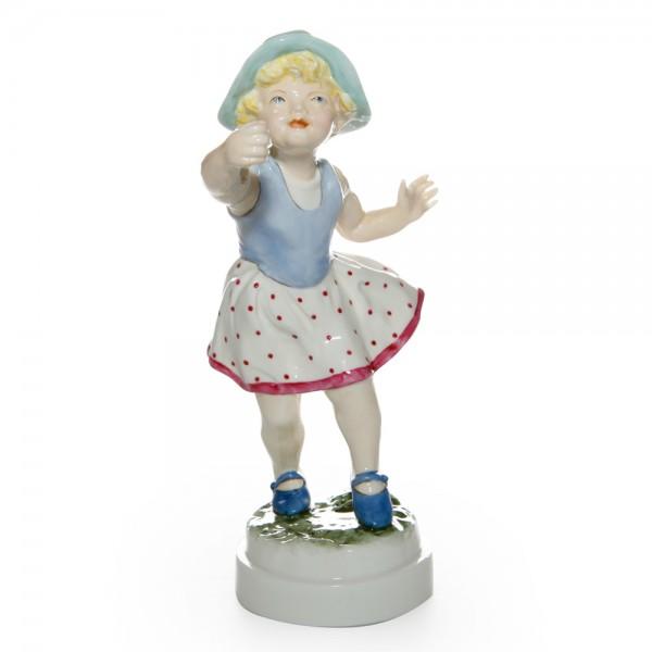 Sunday's Child Girl RW3518 - Royal Worcester Figure