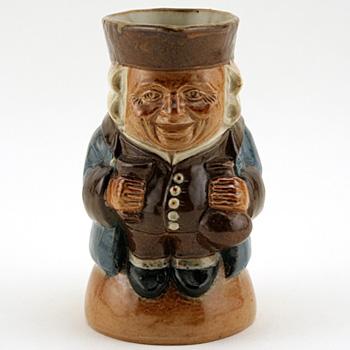 Standing Man Smiling (Blue Jacket, Brown Waistcoat) - Simeon Toby