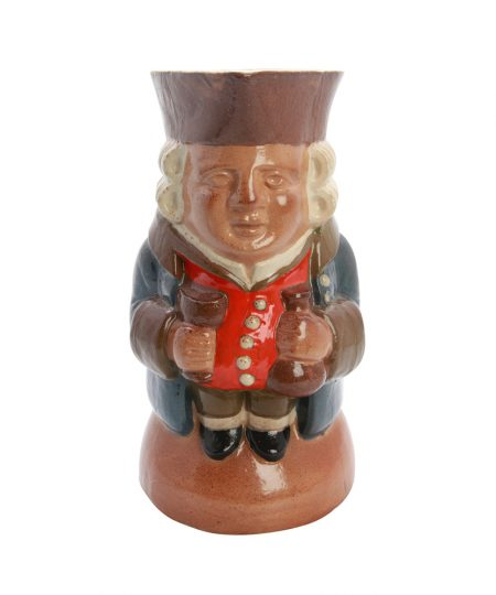 Standing Man Large Sombre Orange 8 - Royal Doulton Simeon Toby