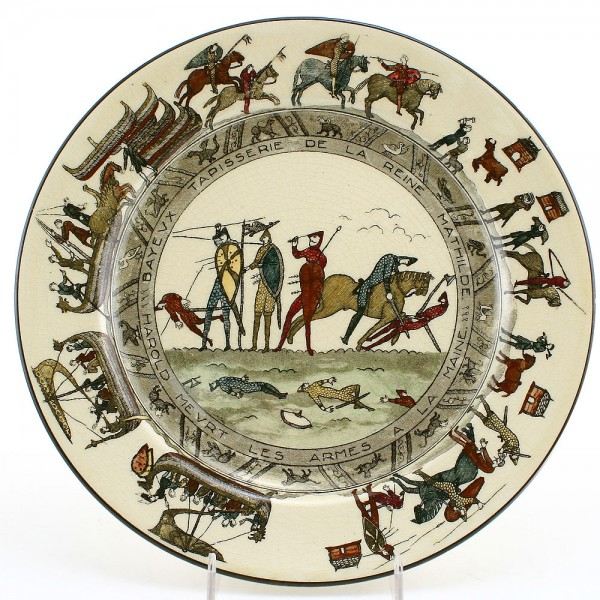 Bayeaux Tapestry Plate, 10.5''D - Royal Doulton Seriesware