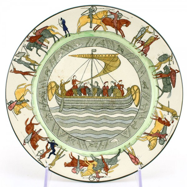 Bayeaux Tapestry Plate, 9.5''D - Royal Doulton Seriesware