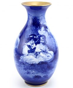 Blue Children Vase, Girls Under Tree - Royal Doulton Seriesware