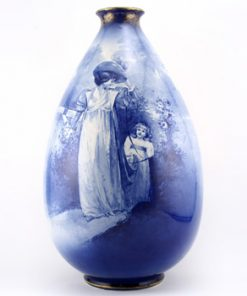 Blue Children Vase Child Trailing - Royal Doulton Seriesware
