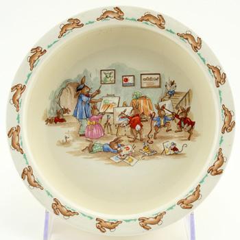 Bunnykins Oatmeal Bowl Art Class - Royal Doulton Seriesware