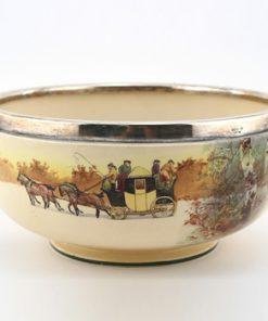 Coaching Bowl with Silver Rim - Royal Doulton Seriesware