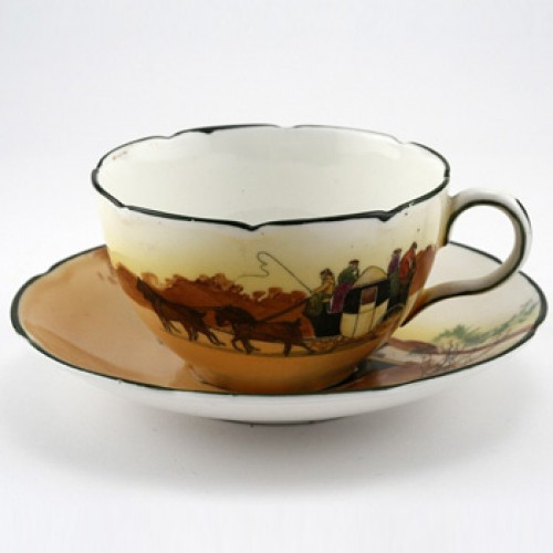 Coaching Cup And Saucer Set - Royal Doulton Seriesware