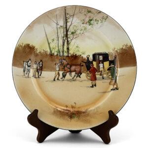 Coaching Plate - Royal Doulton Seriesware