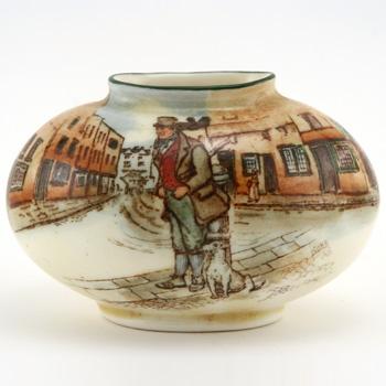 Bill Sykes Vase Oval - Royal Doulton Seriesware