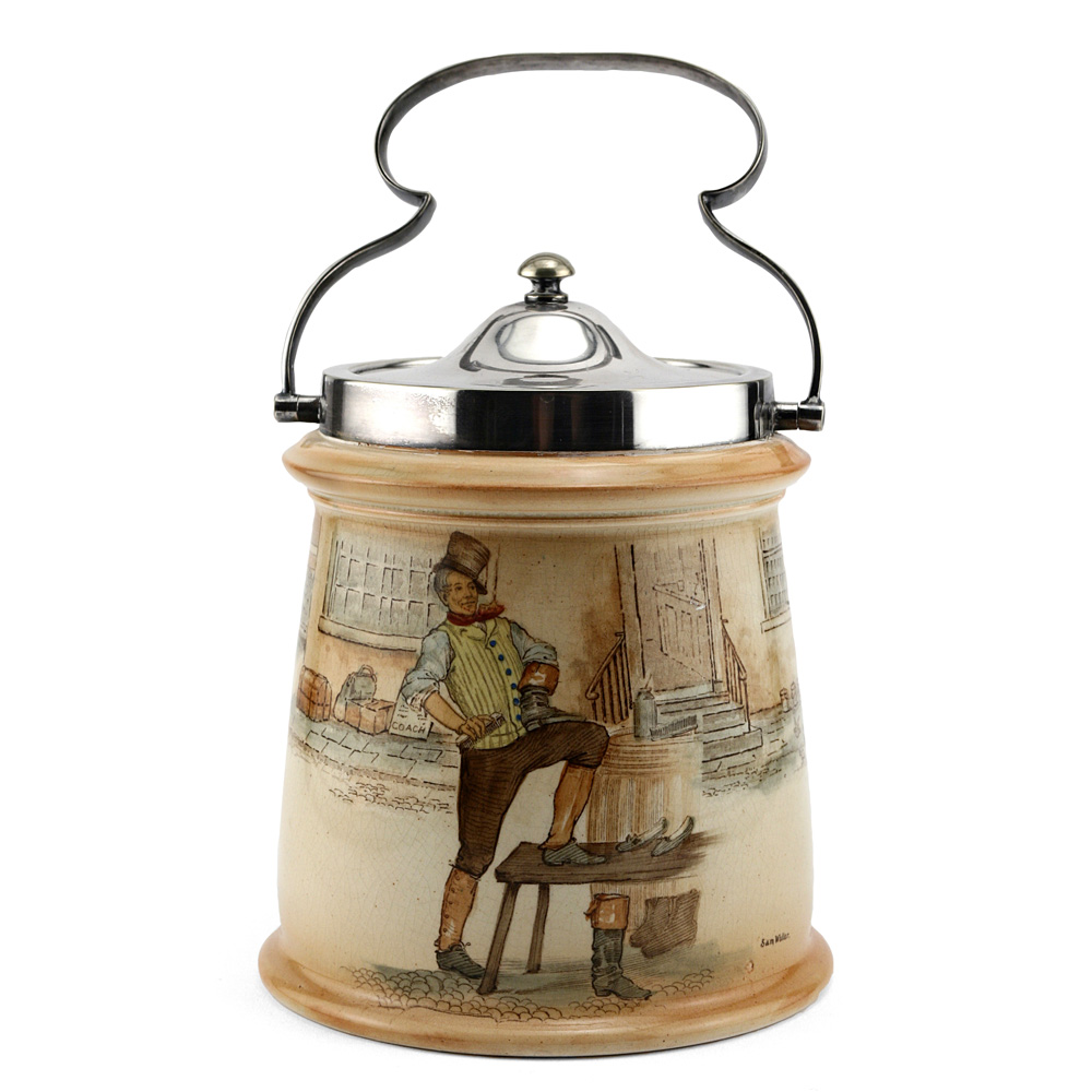 Dickens Biscuit Barrel - Royal Doulton Seriesware