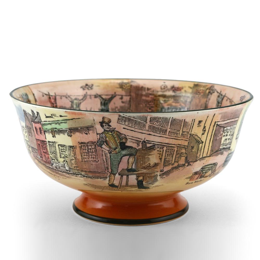 Dickens Pedestal Bowl, Small - Royal Doulton Seriesware