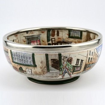 Dickens Bowl Silver Rimmed - Royal Doulton Seriesware