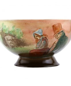 Dickens Little Nell & Grandfather Pedestal Bowl - Royal Doulton Seriesware