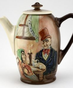 Dickens Mr Micawber Relief Coffee Pot - Royal Doulton Seriesware