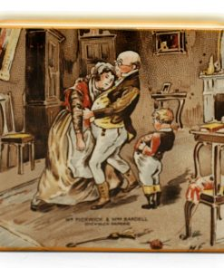 Dickens Covered Box, Mr Pickwick Mrs Bardell - Royal Doulton Seriesware