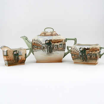 Dickens Mr Squeers 3Pc Teaset - Royal Doulton Seriesware