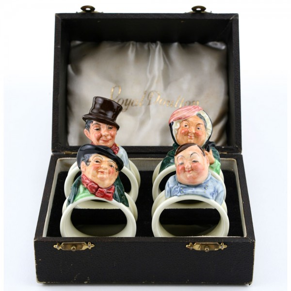 Dickens Napkin Rings (Boxed Set of 4) - Royal Doulton Seriesware