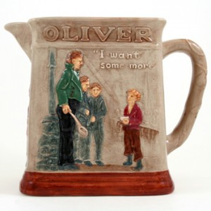 Dickens Oliver Pitcher Asking - Royal Doulton Seriesware