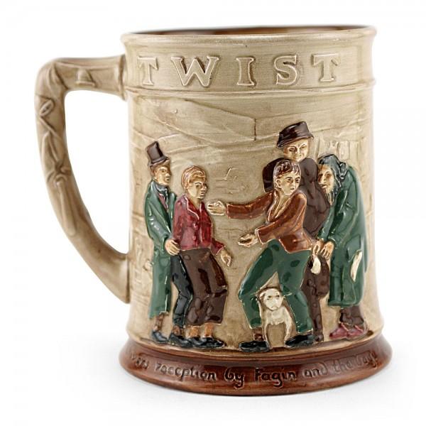 Dickens Oliver Twist Relief Tankard - Royal Doulton Seriesware