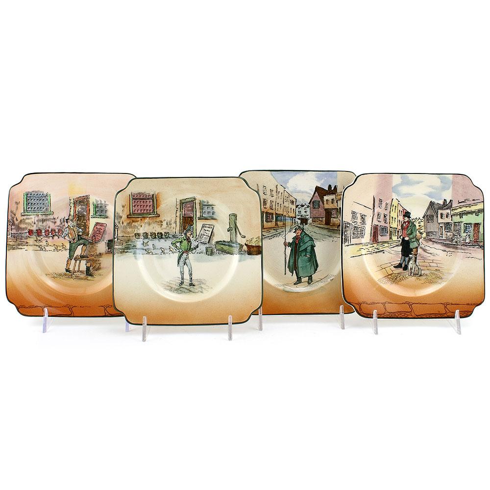 Dickens Plate, 5.75'' Square - Royal Doulton Seriesware