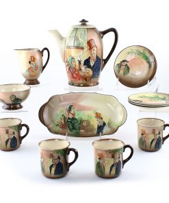 Dickens Relief Coffee Set 12pc - Royal Doulton Seriesware