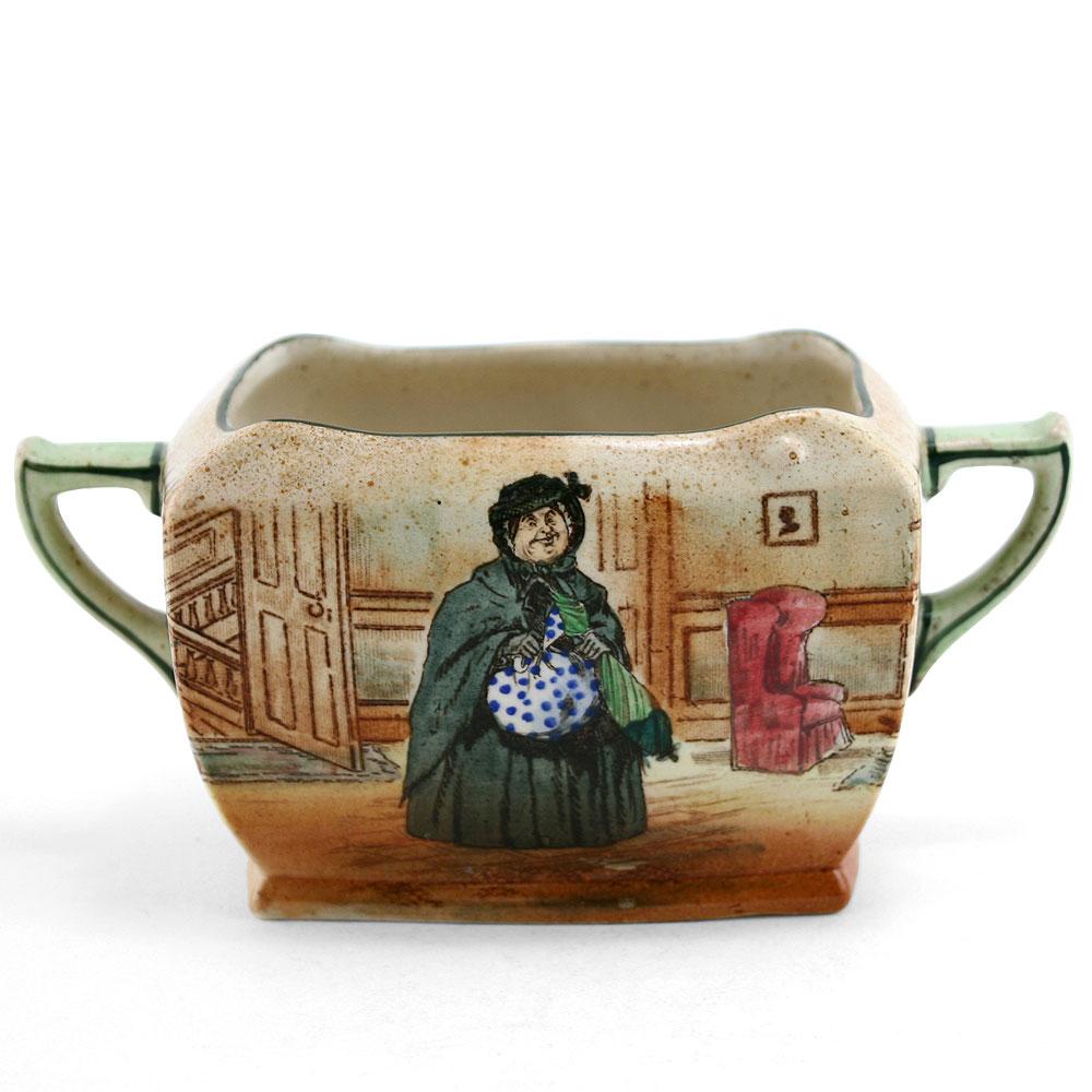 Dickens Sairey Gamp Rectangular Sugar Bowl - Royal Doulton Seriesware