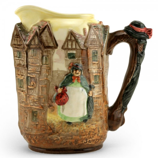 Dickens Sairey Gamp Relief Pitcher - Royal Doulton Seriesware