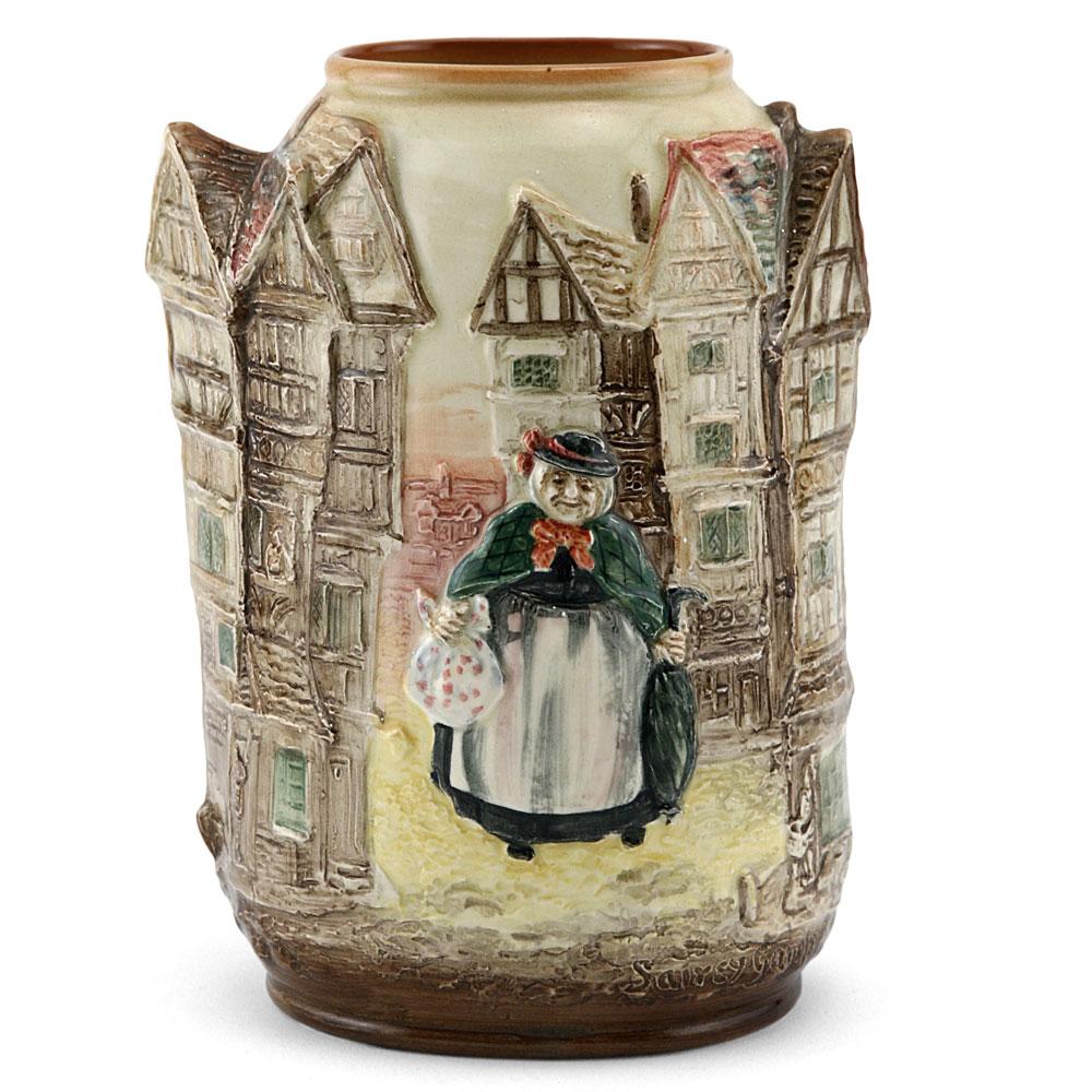 Dickens Sairey Gamp Relief Vase - Royal Doulton Seriesware