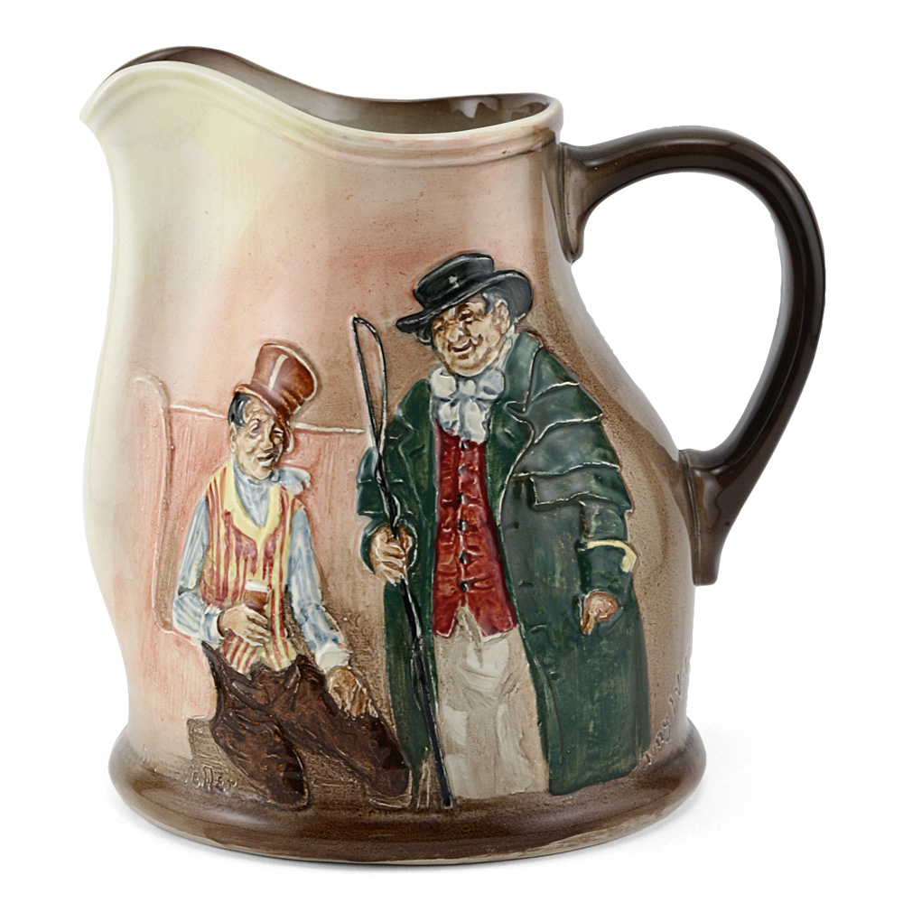 Dickens Sam & Tony Weller Pitcher - Royal Doulton Seriesware