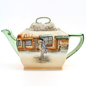 Dickens Teapot Mr Pickwick Rectangular - Royal Doulton Seriesware