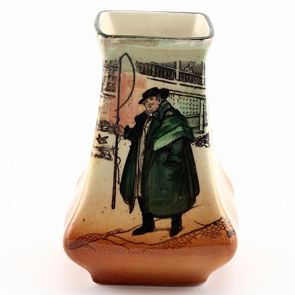 Dickens Tony Weller Mini Square Vase - Royal Doulton Seriesware