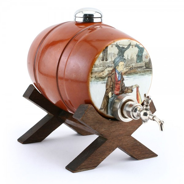 Dickens Whiskey Barrel on Stand - Royal Doulton Seriesware