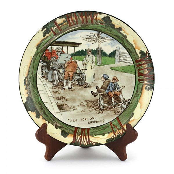 """Plate, Early Motoring """"Itch Yer On Guvnor"""" - Royal Doulton Seriesware"""
