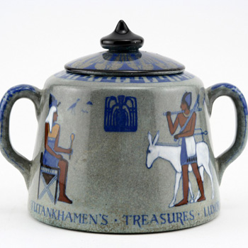 Egyptian Titanian Covered Sugar - Royal Doulton Seriesware