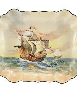 Famous Ships Scalloped Dish - Royal Doulton Seriesware