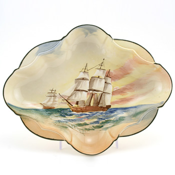 "Famous Ships Scalloped Dish ""The Hydra"" - Royal Doulton Seriesware"