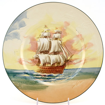 "Famous Ships ""The Victory"" Plate - Royal Doulton Seriesware"