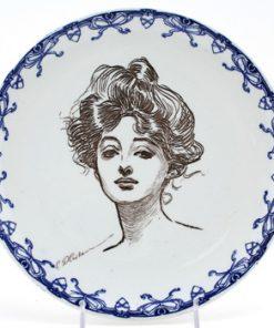 Gibson Girl Plate Portrait - Royal Doulton Seriesware