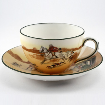 Hunting Cup And Saucer - Royal Doulton Seriesware
